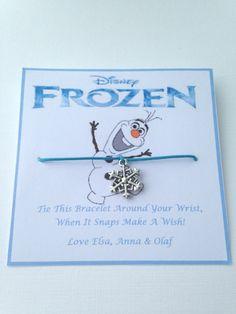 Disney's Frozen Wish Bracelet Snowflake Charm Party Bag Filler