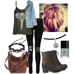 School outfit XD by emilia-73 on Polyvore featuring Boohoo, Forever 21, Coach, modern, cool and teen