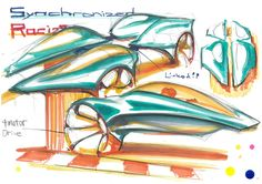 "By Mr. Sasaki who received the Copic Award from the 2nd Ultimate Car Design Battle! The theme was to design ""A Car Driven By Young People in 2050,"" and competitors created designs within a time limit of 30 min by using only pen and markers. You will see the event report on our website: http://cardesignacademy.com/magazine/cardesignbattle2016.html #sketch #automotive #automotivedesign #instadaily #carstagram #instacars #cars #cargram #drawing #carsketch #copic"