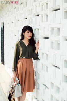 【今日のコーデ/佐藤ありさ】会食の予定がある木曜日はエレガントな秋色ワンツーコーデ♪ | ファッション(コーディネート・流行) | DAILY MORE