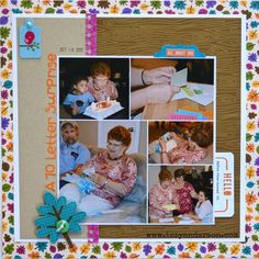 A 70 Letter Surprise - Scrapbook.com - Document a sweet birthday surprise.