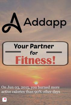 Addapp: Your Partner for Fitness!  Nice one Carolyn! @wonderoftech :)