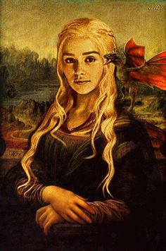 Game of Thrones - Daenerys Targaryen Dessin Game Of Thrones, Arte Game Of Thrones, Game Of Thrones Funny, Game Of Thrones Houses, Daenerys Targaryen, Khaleesi, Game Of Throne Lustig, The Mother Of Dragons, Mona Lisa Parody