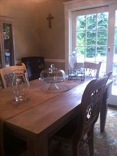 Hand Painted By Patricia Dark Walnut Dining Room Set Using Annie Sloan Paint Finish Looks