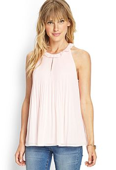 Pleated Georgette Halter Top | FOREVER 21 - 2000067713