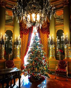 Christmas in the Music Room at The Breakers.