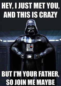 """Call me Maybe"" Star Wars Meme...ok, this might be funny to me lol"