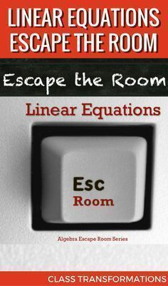 Practice linear equations with this escape room! Students find slopes & y-intercepts to solve the mystery and escape the room! Math Teacher, Math Classroom, Teaching Math, Teaching Ideas, Teacher Tips, Teacher Stuff, Algebra Activities, Maths Algebra, Math 8
