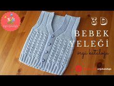 # 52 Three-dimensional V Baby Vest Model – Knit Models / Knit Baby Vest (subtitles available) - Knitting Knitting For Kids, Crochet For Kids, Free Knitting, Baby Knitting, Crochet Baby, Knitting Patterns, Crochet Poncho, Knitted Shawls, Baby Skirt