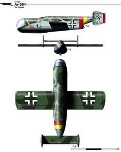 Find at Ta-183 Huckebein Fw Ta-183 Specifications General Type: Jet Fighter Crew: 1 Engine Heinkel He.S 011 turbojet | 15.6 kN Dimensions/Masses Length: 9.20 m | Width: 10.00 m | Height: ? m Weight...