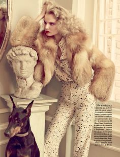 """Magdalena Frackowiak in """"Magdalena in Luxury"""" Photographed by David Roemer & Styled by Sarah Gore Reeves for Vogue Mexico, December 2011"""