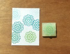 Spiky mandala stamp mandala rubber stamp mandala by CutsAndScrapes