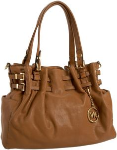 Hello Beautiful. Michael Kors Edie Large Tote shown in Peanut. I love the hardware on this tote.