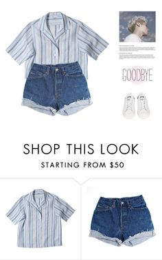 """""""eighty five"""" by leejnki ❤ liked on Polyvore featuring Levi's and adidas"""