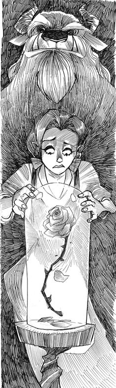 InkTOBER 02 - Beauty and the Beast by JeremyTreece on deviantART