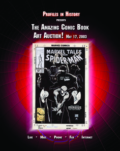 Comic Book Auction 15, 5-17-03  https://www.profilesinhistory.com/auctions/comic-book-art-auction-15/