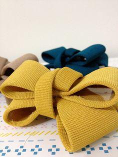 Items similar to Ribbon Hair Tie / Mustard Yellow Navy Blue Tan Ponytail Feminine Korean-Style Lovely Accessory on Etsy Ribbon Hair Ties, Mustard Yellow, Ribbons, Navy Blue, Trending Outfits, Bows, Unique Jewelry, Handmade Gifts, Etsy