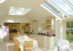 Awesome Roof Lantern Extension Ideas - The Urban Interior Shabby, Roof Lantern, Roof Light, Open Plan Kitchen, Kitchen Ideas, Glass Roof, Open Plan Living, Living Room Kitchen, Kitchen Dining