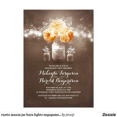 rustic mason jar barn lights engagement party