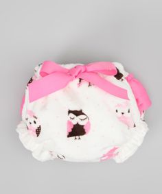 Caught Ya Lookin' White & Pink Owl MInky Bloomers - Infant by Caught Ya Lookin' #zulily #zulilyfinds