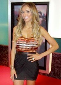 Giuliana Rancic on Fashion Police wearing Pame' Gold leatherette.  www.pamedesigns.com
