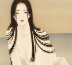 The Mermaid Within, Mystical Mermaid Art Japanese Drawings, Japanese Prints, Geisha Art, Illustration Art, Illustrations, 5 Anime, Art Hoe, Japanese Painting, Mermaid Art