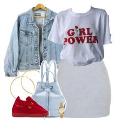 """""""1364 • Girl Power *Cheetah Girls voice* lol"""" by cheerstostyle ❤ liked on Polyvore featuring Balmain, Melissa Odabash, Opening Ceremony, Puma and H&M"""