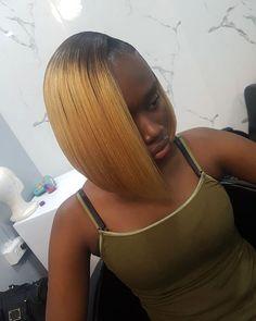 Blonde-Fine-Hair Best Bob Hairstyles for Black Women Pictures in 2019 Black Bob Hairstyles, Sleek Hairstyles, Everyday Hairstyles, Braided Hairstyles, Popular Hairstyles, Hairstyles Pictures, Dark Burgundy Hair Color, Long Asymmetrical Bob, Graduated Bob Haircuts