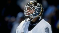 Guy Hebert reflecting on being the first Duck ever. One Duck, Goalie Mask, Hockey Goalie, Anaheim Ducks, National Hockey League, Mask Design, The Expanse, The One, Nhl