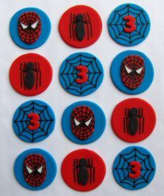 Fondant Cupcake Toppers - Spider Sense. $16.99, via Etsy.