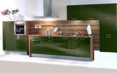 Color Blocking Küche grün