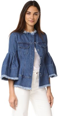 Shop Now - >  https://api.shopstyle.com/action/apiVisitRetailer?id=640502232&pid=uid6996-25233114-59 Marques Almeida Hip & Puff Sleeve Denim Jacket  ...