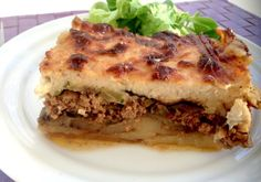 Greek moussaka is perhaps one of the most classic – and famous – dishes of Greece, served in almost every taverna and home. It is considered the national dish and is traditionally made with lamb mince, however Vasso's divine version uses a mix of pork and beef layered with delicious aubergine, courgette and potato, topped with a delicious béchamel sauce and baked until golden brown.