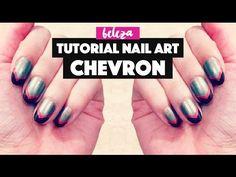 Tutorial: Nail Art Chevron Fácil  Easy Chevron Nails Tutorial