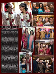 From August 20 to downtown Chicago witnessed the extravagant wedding of a South Asian Hollywood power couple. Gaurav Misra, co-owner and president of Brian Graden Media and ANOKHI Sexy & Successful alum, married Sapna Vyas, an executive. Media Magazine, South Asian Wedding, Reception, Hollywood, Culture, Dinner, Couples, Life, Suppers