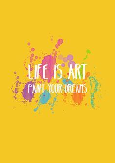 Frase inspiracional sobre arte
