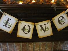 Love Banner Wedding Garland Sign Great by inspirationalbanners, $10.00