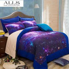 2671d79bd462 Hipster Galaxy 3D постельных принадлежностей Вселенная космического  пространства тематические Galaxy печати постельное белье пододеяльник и  подушка casetwin ...