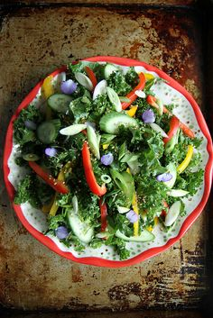 Asian Kale Salad with Sesame Dressing - Vegan