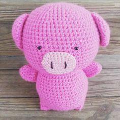 #crochet #piggy #pig #amigurumi #handmade #piglet #etsy #pink #farm #toy #stuffedanimal
