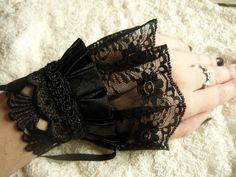black lace cuffs