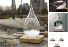 ♥ Barometr na předpověď počasí  ★    Objednejte si zde >>> http://aliexpr.es/1SRhdtP  Tento barometr se také nazývá storm glass. Předpovídá počasí a zároveň slouží jako dekorace ve Vašem domě. Jak barometr funguje?  ✔Pokud je nádoba čistá a klidná - předpokládá se pěkné počasí  ✔Zakalená -déšť  ✔Větší sraženiny v zimě představují sníh  ✔Větší sraženiny v létěpředstavují za
