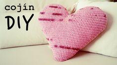 Cojin de Corazon a Crochet | How to crochet a HEART-shaped pillow