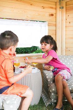 Kids Indoor Playhouse - DIY building plans by Jen Woodhouse kids Kids Playhouse Plans, Kids Indoor Playhouse, Outside Playhouse, Playhouse Kits, Backyard Playhouse, Build A Playhouse, Wooden Playhouse, Simple Playhouse, Outdoor Playhouses
