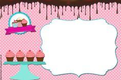 Resultado de imagem para convite de aniversario para editar e imprimir gratis Food Coloring Mixing Chart, Photo Frame Wallpaper, Funny Cupcakes, Cupcake Card, Cake Logo, Tea Art, Printable Labels, Flower Frame, Candyland