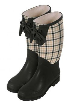 Laura Ashley Contemporary Wellington Rubber Gardening Boot-Mitford Check