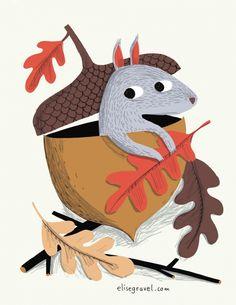 squirrel.preview.jpg (546×707) Elise Gravel #Illustration