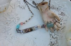 MiXed MeDiA NeCKlaCe by bellablissdesigns on Etsy, $24.00