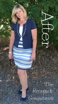DIY Pencil Skirt Refashion Tutorial