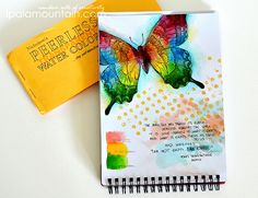 Swallowtail SU Peerless Water Colors And Derwent Inktense Pencils Journal Page Size